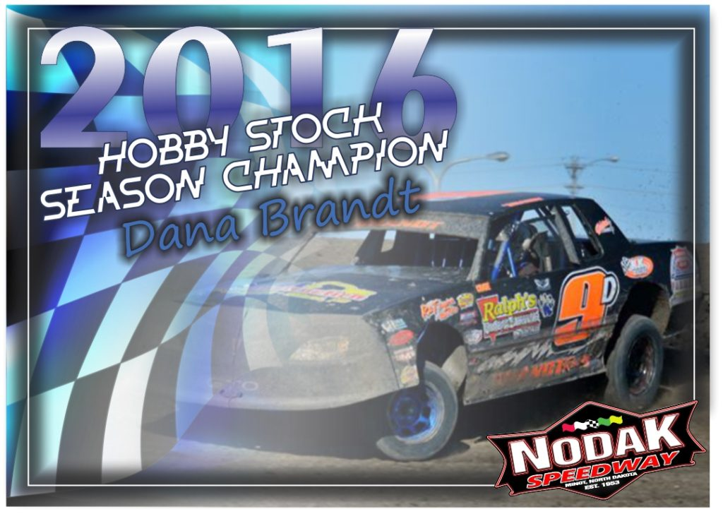 season champion Brandt Hobby Stock