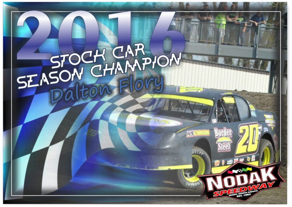 season champion Flory stock car